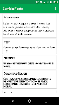 Zombie Fonts for FlipFont APK : Download v1 4 for Android at AndroidCrew