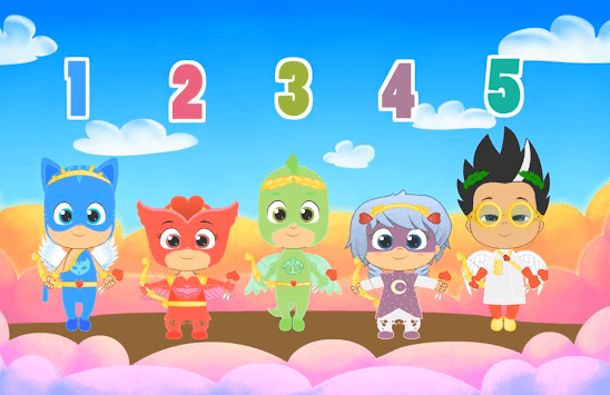 Five little Masks Moonlight Rhymes APK screenshot 1