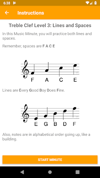Music Theory Minutes - Lessons and Training Drills APK screenshot 2