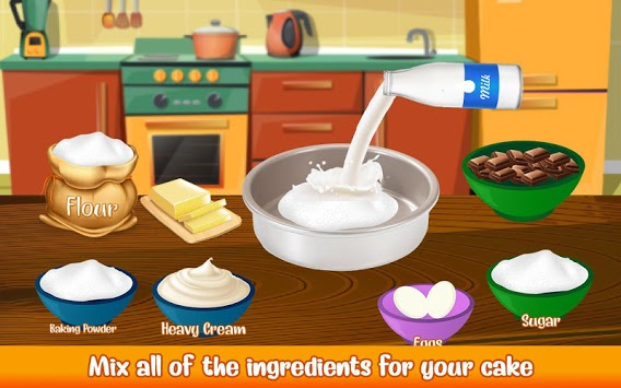 Cake Bakery Shop - Sweet Cooking, Color by Number APK screenshot 3