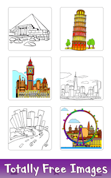 Cities Color by Number: Nation Coloring Book Pages APK screenshot 1