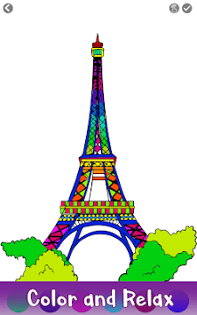 Cities Color by Number: Nation Coloring Book Pages APK screenshot 2