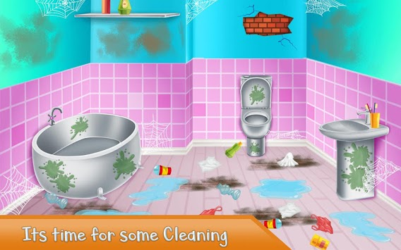Washroom Cleanup - House Cleaning, Color by Number APK screenshot 1