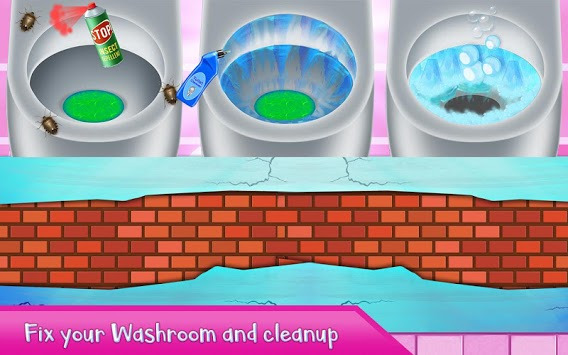 Washroom Cleanup - House Cleaning, Color by Number APK screenshot 2