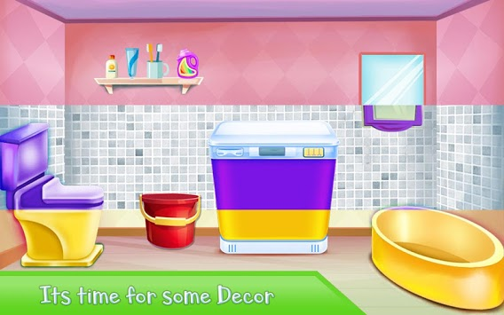 Washroom Cleanup - House Cleaning, Color by Number APK screenshot 3