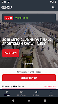 NHRA.TV APK screenshot 1