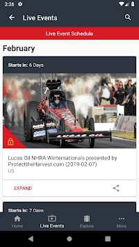 NHRA.TV APK screenshot 2