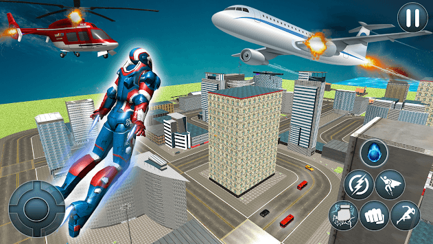 Flying Robot: Superhero Robot Flying Game APK screenshot 1
