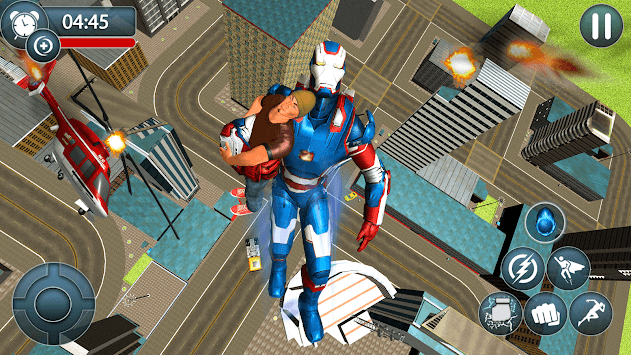 Flying Robot: Superhero Robot Flying Game APK screenshot 2