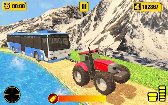 Chained Tractor Towing Rescue APK screenshot 1