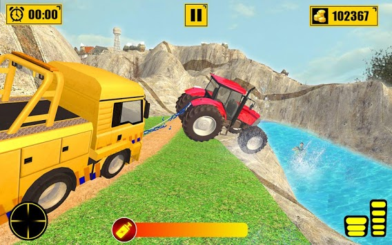 Chained Tractor Towing Rescue APK screenshot 2
