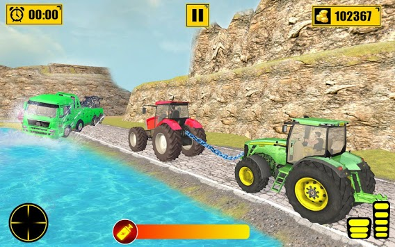 Chained Tractor Towing Rescue APK screenshot 3