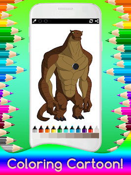 Coloring Ben Ten for Kids APK screenshot 1