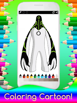 Coloring Ben Ten for Kids APK screenshot 2