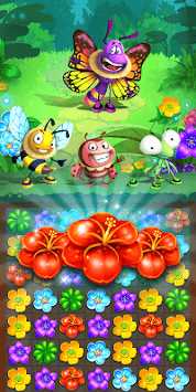 Colorful Flowers Match 3 APK screenshot 1