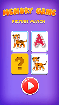 Picture Match, Memory Games for Kids - Brain Game APK screenshot 1