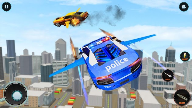 Real Police Robot Car : Flying Car Games APK screenshot 1