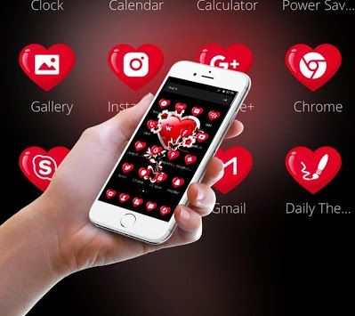 Red Heart Love Theme APK : Download v1 1 4 for Android at