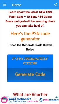My psn reward coupen APK : Download v2 3 1 for Android at