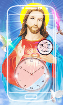 Jesus Clock Live Wallpaper APK screenshot 1