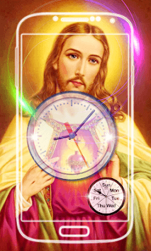 Jesus Clock Live Wallpaper APK screenshot 2