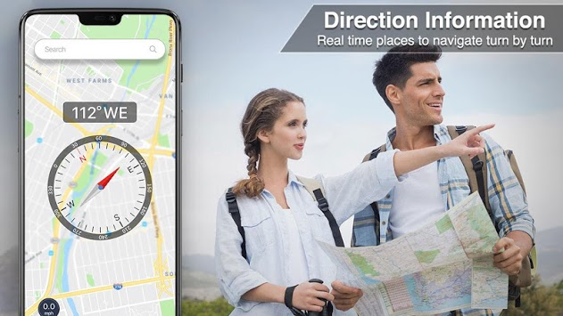 Digital Compass 360 free for android APK screenshot 1