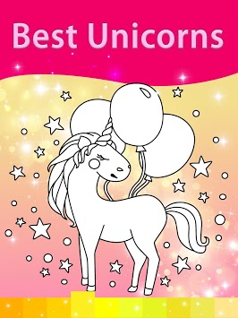 Unicorn Coloring Pages with Animation Effects APK screenshot 1