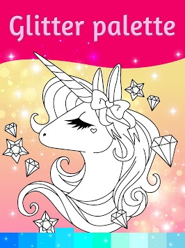 Unicorn Coloring Pages with Animation Effects APK screenshot 2
