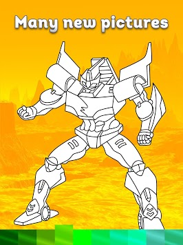 Robots Coloring Pages with Animated Effects APK screenshot 2