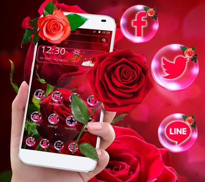 Shiny Red Rose Love Theme APK : Download v1 1 2 for Android