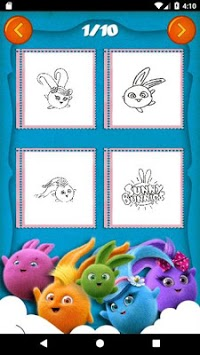 Sunny Bunnies Coloring Book - Kids Game APK screenshot 2