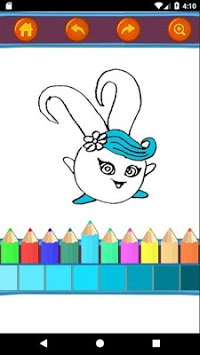 Sunny Bunnies Coloring Book - Kids Game APK screenshot 3