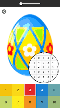 Easter Egg Coloring Game - Color By Number APK screenshot 1