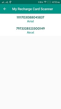 Airtel, Idea, Vodafone Recharge Card Scanner APK : Download