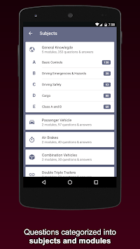 CDL Practice Exams 2019 Commercial Drivers License APK screenshot 2