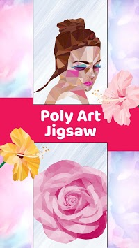 Poly Art Jigsaw Idle Painter Polygon by Number APK screenshot 1