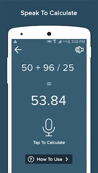 Voice Calculator APK screenshot 1