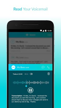 Voxist: Visual voicemail you can read APK screenshot 3