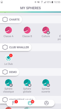 Whaller - Create your own secured social networks APK screenshot 2