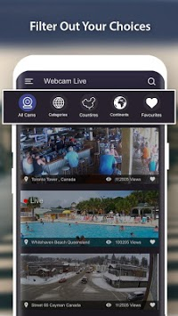 World Live Camera Viewer : Webcam, Earth cam APK screenshot 1