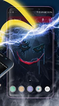 Bat Hero Theme Launcher - Wallpapers and Icons APK screenshot 2