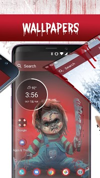Scary Doll Themed Launcher - Icons and Themes Pack APK screenshot 2