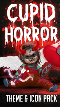 Scary Doll Cupid Theme - Wallpapers and Icons APK screenshot 1
