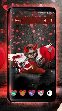 Scary Doll Cupid Theme - Wallpapers and Icons APK screenshot 2