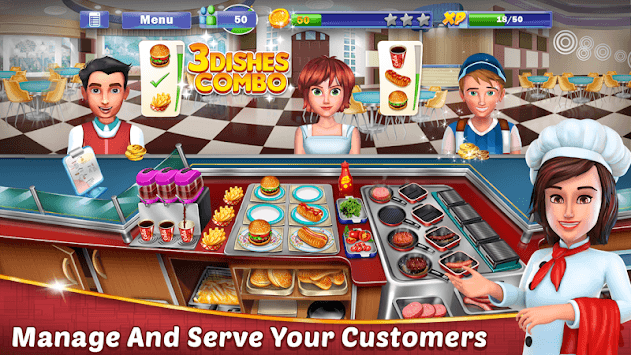 Chef's Life : Crazy Restaurant Kitchen APK screenshot 1