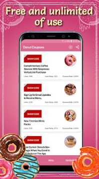 Donut Coupons APK screenshot 2