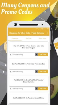 Coupons for Uber Eats - Food Delivery APK screenshot 2