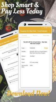 Coupons for Uber Eats - Food Delivery APK screenshot 3