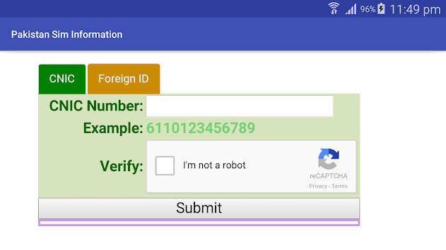 Pakistan Sim Verification APK : Download v1 0 for Android at