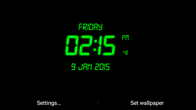 LED Digital Clock Live Wallpaper APK : Download v11 2 2 6